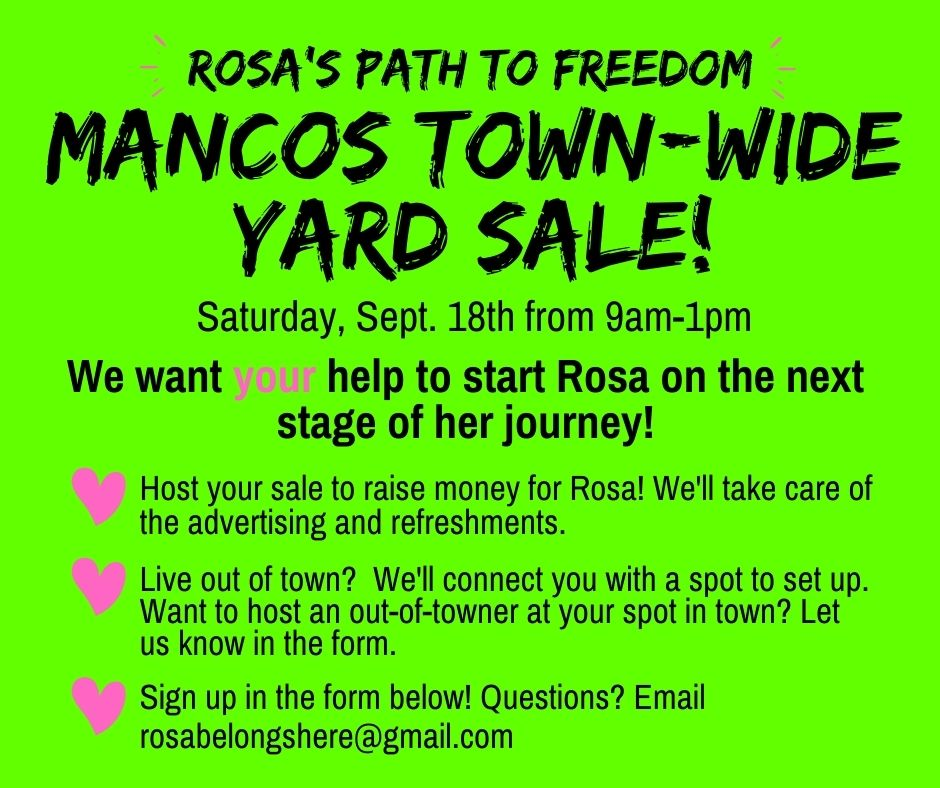 SIGN UP FOR THE COMMUNITY YARD SALE